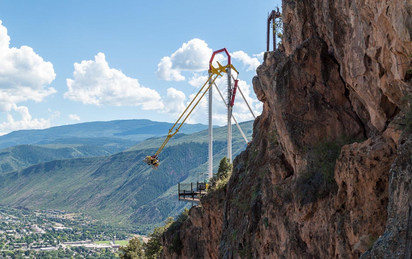 Самые страшные аттракционы: giant canyon swing